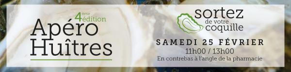 4e édition de l'apéro huîtres le samedi 25 février 2017